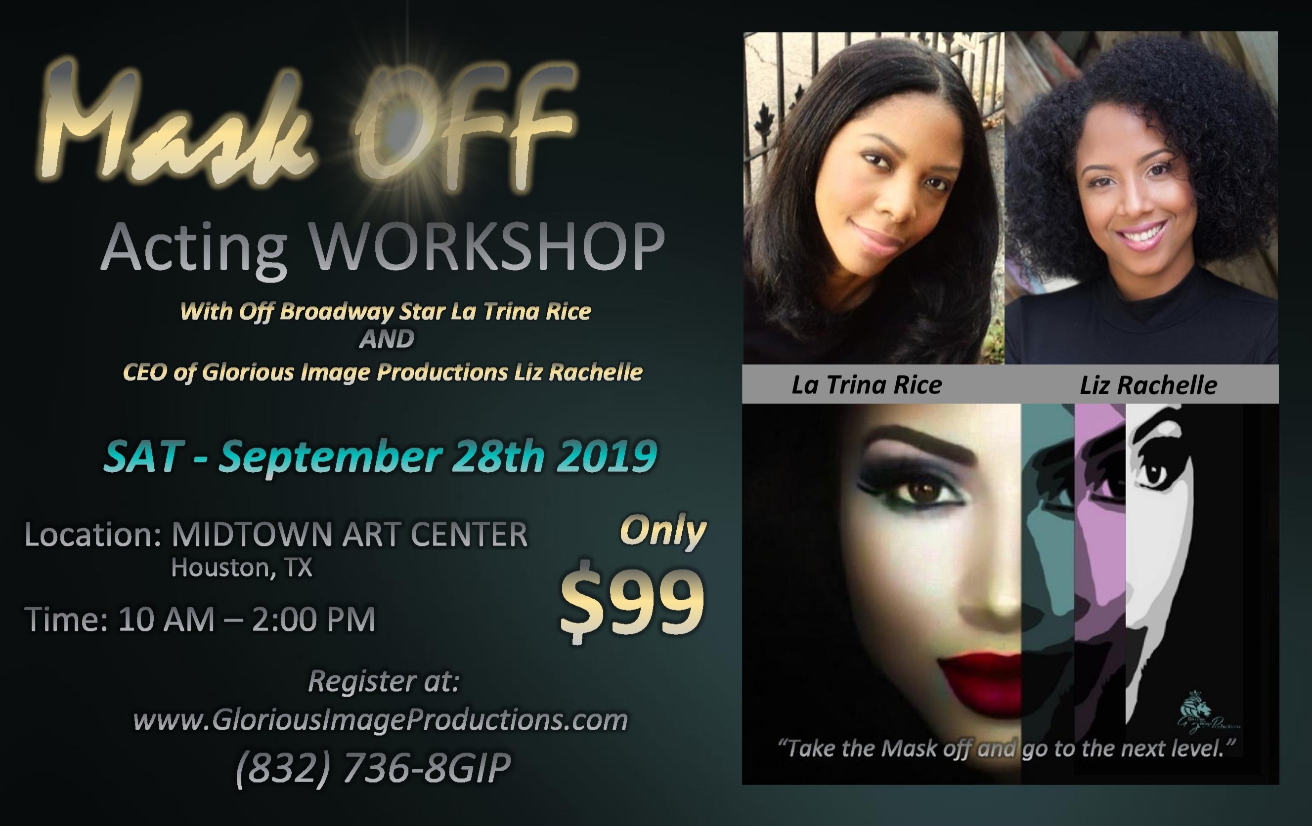 mask off acting workshop